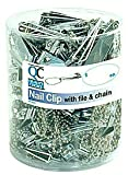 PACK OF 3 EACH QC NAIL CLIPPER W/FILE TUB/72 1EA PT#63551595437