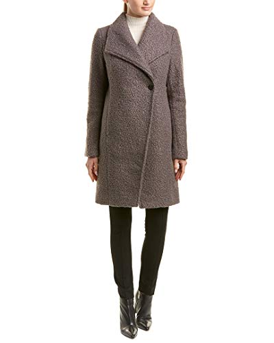 T Tahari Womens Tahari Sheila Coat, M, Grey