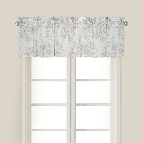 Pocket Rod Lodge Drapes (C&F Home Clementina Cement Valance Set 2 Valance Set of 2 Gray)