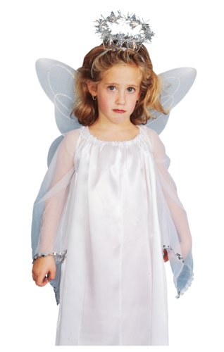 Rubies Child Angel Costume Accessory Kit with Wings and Halo - White Angel Costumes Kit