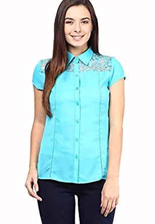 The Vanca Shirts For Women, Teal M