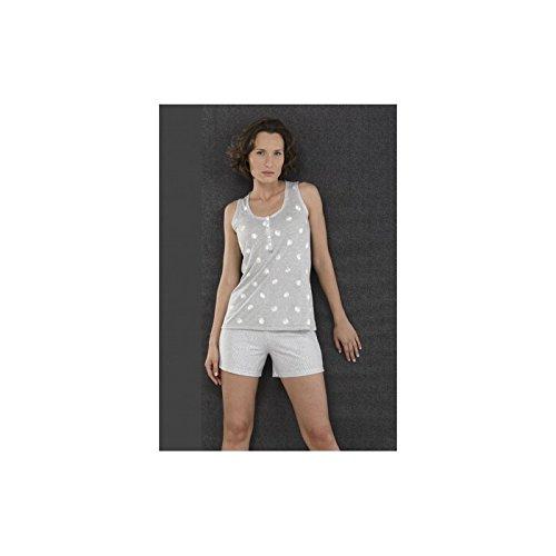 MASSANA - Pijama p151253, mujer, color gris, talla xxl
