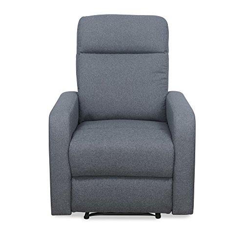 @home By Nilkamal Mayfair Single Seater Electric Fabric Recliner Sofa  Grey, Slate