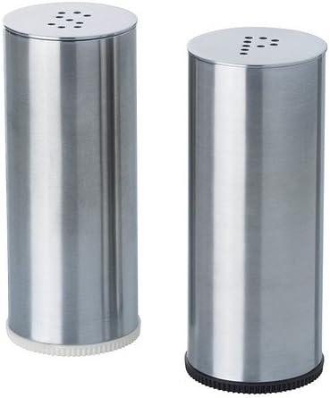 Salt Pepper Shaker Stainless Steel Condiment Dispenser Camping Accessories S