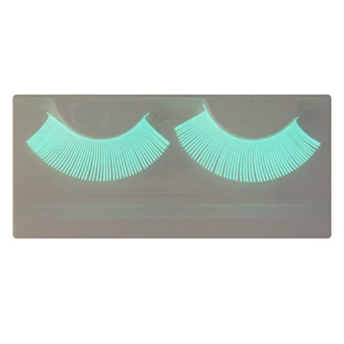 (EMILYSTORES Natural Looking Luminous Fluorescence Costume Halloween Gloss In Darkness Party Lashes 1 Pair by)