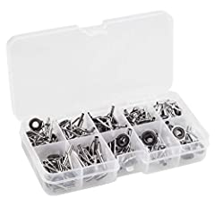 Feature: Fishing pole tips guides repair kit with stainless steel frame and wear-resistant ceramic ring, are sturdy and durable. Usage:  This was a good set of eyelets tip guides as replacement tips on some fishing rods tips that were literal...