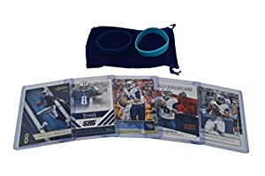 Marcus Mariota Football Cards Assorted (5) Bundle - Tennessee Titans Trading Cards