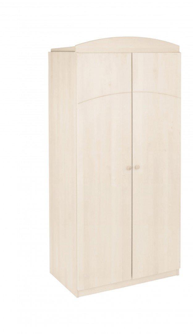 BioKinder 23860 Leonie Kleiderschrank in Kiefer weiß Massivholz 200 x 94 x 59 cm