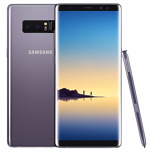 "Samsung SM-N950UZVAXAA Galaxy Note8 (US Version) Factory Unlocked Phone - 6.3"" Screen - 64GB - Orchid Gray (U.S. Warranty)"