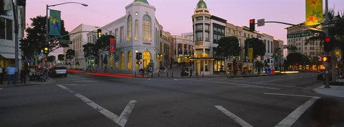 Walls 360 Peel & Stick Wall Murals: Rodeo Drive Intersection (72 in x 26.75 in) ()