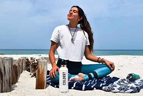 The Coldest Water Bottle - Standard Mouth Sports 12 oz, 21 oz Vacuum Insulated Stainless Steel, Hot Cold, Modern Double Walled, Simple Thermo Mug, Hydro Metal Canteen Cold 36+ Hrs