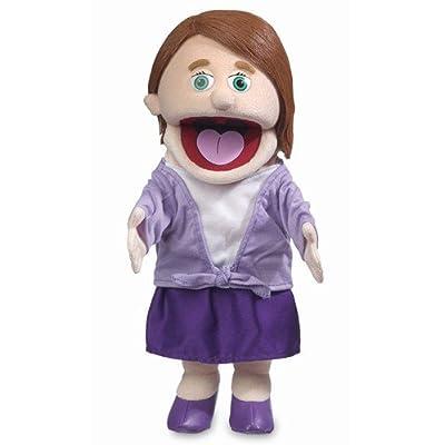 "14"" Sarah, Peach Mom / Teacher, Hand Puppet: Toys & Games"