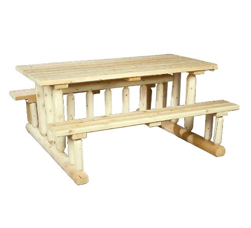 Cedarlooks 020021E Log Park Style Picnic Table