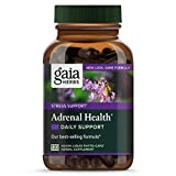 Gaia Herbs Adrenal Health Daily Support, Vegan Liquid Capsules, 120 Count - Stress Relief and Adrenal Fatigue Supplement, Holy Basil, Ashwagandha, Rhodiola Adrenal Complex