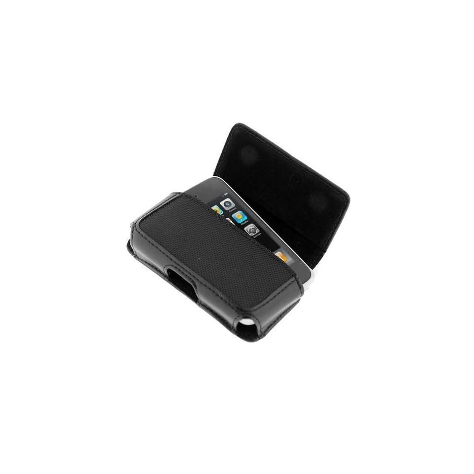 NEW Leather Carrying & Protection Case (Perfect Fit) for Verizon Wireless Blackberry Storm 9530, AT&T Samsung sgh i607 Blackjack I, sgh i617 Blackjack II, A827 Access, SPH i325 ACE, Sprint m800 Instint, PANTECH Slate c530, Motorola Q, Q9c, Q9h, Q9m, LG CU9