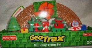 Geotrax Holiday Express Train Set Includes full loop track with snow, push train and more White Christmas Express Train Set