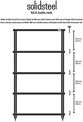 Solidsteel S2-5 | Mueble Hi-Fi audio de 5 alturas (Hecho en ...