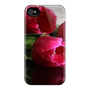 New Fashion Premium Tpu Cases Covers For Iphone 6plus - Spilled Wine Tulips