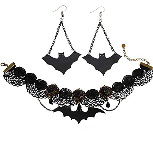 Bat Necklace Bat Earring...