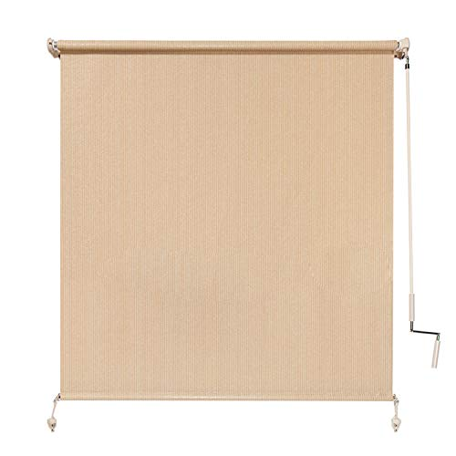Coolaroo Exterior Roller Shade, Cordless Roller Shade with 90% UV Protection, No Valance, (4' W X 6' L), Southern Sunset (Roll Patio Shades Down Sun)