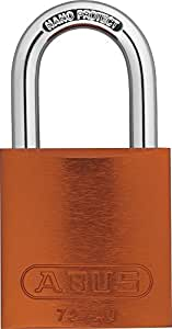 Abus 72/40_NARANJA - Candado Aluminio arco de acero endurecido 40mm Naranja