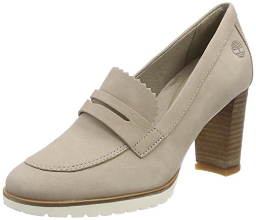L47 Nubuck Timberland Anne Mocassin Simply Leslie Taupe Scarpe Tacco Marrone Donna con Ppw6qCvxP