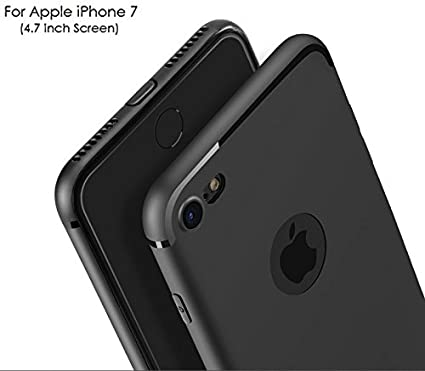 metà fuori 860df fa6c6 WOW Imagine Soft Silicone All Sides Protection 360 Degree Anti Dust Plugs  Shockproof Slim Back Cover for Apple iPhone 7 (Pitch Black)