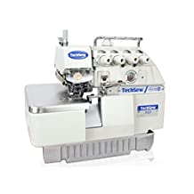 TechSew 757 5-Thread Serger Overlock Industrial Sewing Machine, with Submerged Table & Servo Motor