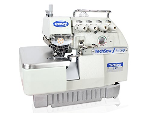 TechSew 757 5-Thread Serger Overlock Industrial Sewing Machine, with Assembled Submerged Table & Servo Motor