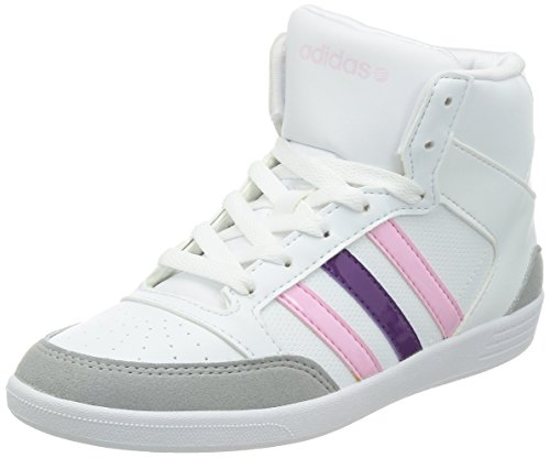 adidas neo VLNEO HOOPS MID W Chaussures Mode Sneakers Femme Blanc Rose adidas Neo