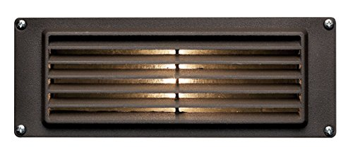 - Hinkley Landscape Lighting Louvered Brick Light - Hardscape Deck Light Highlights Important Hardscape Features and Surfaces and Increases Home Security - Bronze Finish, 1594BZ-LED