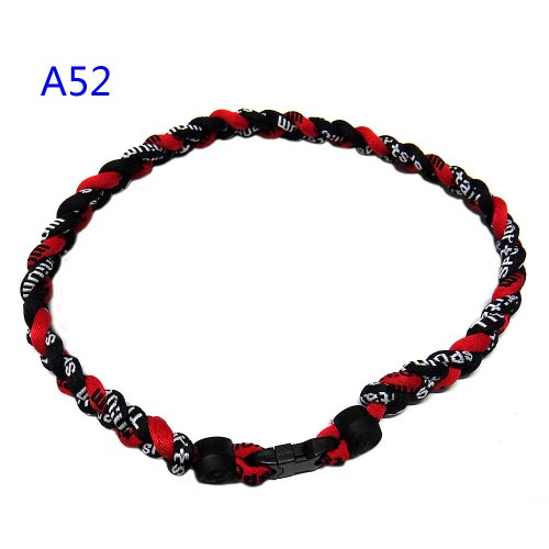 Leegoal Baseball Necklace Red Black