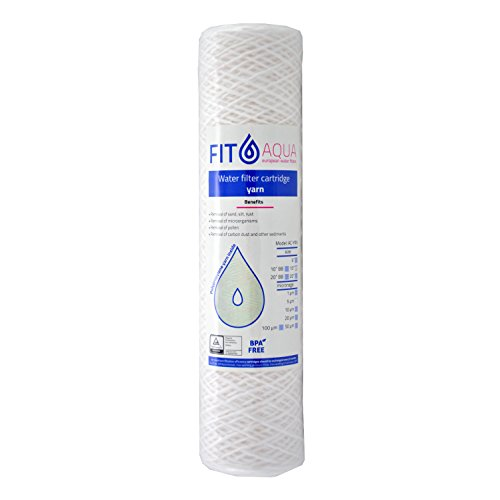 FIT Aqua AC YRN - Cartucho de filtro de agua de sedimentos, 10pulgadas, 5micrones, 1 un