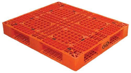 Vestil PLP2-4840-ORANGE-MX Orange Polyethylene Pallet with 4 Way Entry, 6600 lbs Capacity, 39.5
