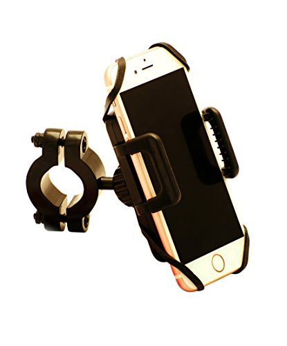 Best Bicycle Smartphone Handlebar Mount - Cradle Securely Holds all iPhone, Android, Blackberry and GPS Devices. Adjustable Viewing Angles. One Touch Release. Easy to Install.