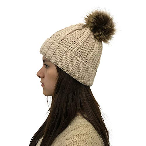 c767e64f Unisex Trendy Hat, Women Ladies Winter Crochet Beanie, Women Autumn Winter  Outdoor Faux Fur