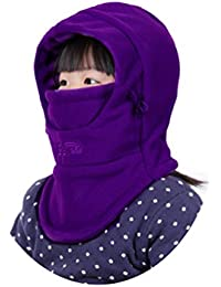 Children's Winter Windproof Cap Thick Warm Face Cover...
