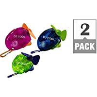 Genuine O2-Cool Carabiner Water Misting Fan, Colors May Vary (2-pack)