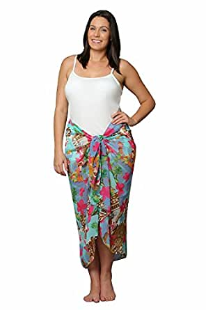 Amazon.com: Plus Size Swimsuit Sarong Cover up in Hawaiian