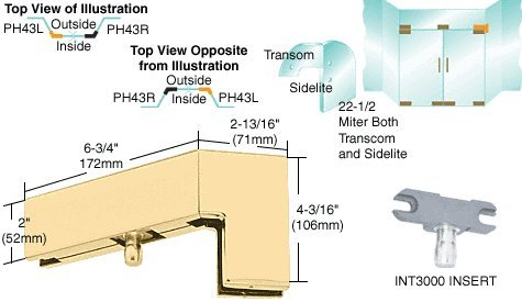 Brass 135 Degree Right Hand Sidelite Patch with 1NT300 Insert