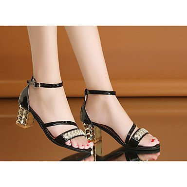 Light Walking Soles Buckle Casual Soles Flat Women'S 5 Black US5 Sandals Summer Flat EU36 Heel UK3 Dress CN35 Marylight Pu 5 White Mary q8ttEwf