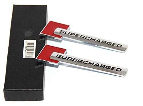 UPC 702029039787, Yoaoo-oem® 2pcs 3d OEM Supercharged Badge Emblem Stickers for Audi A3 A4 A5 A6 Q3 Q5 Q7 S4 S6 Tt
