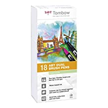 Tombow Dual Brush Pens Pastels - Pack of 18 Colors (ABT-18P-5)