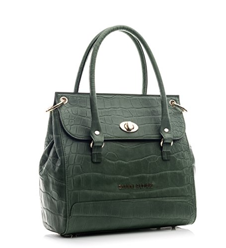 Borsa Bauletto Donna Vera Pelle Made in Italy - Gianni Altieri Verde