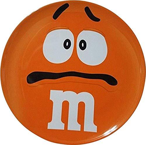 M&M'S MELAMINE DINNER PLATE ORANGE CHARACTER BIG FACE