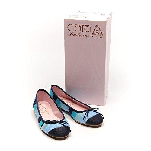 vestir con CARA bailarina de de redondeada Azul zapatos punta bombas de wTqZqBYO