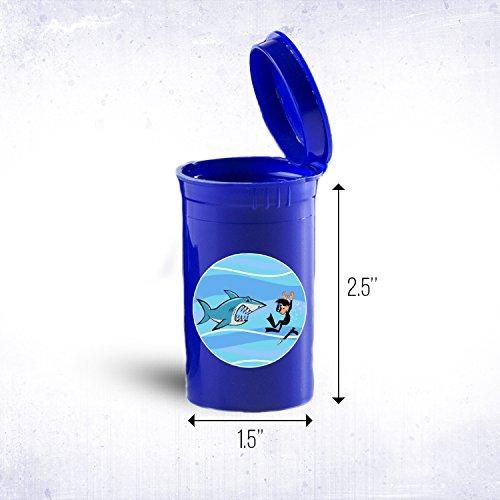 Shark and Diverポータブルポケットや財布サイズDrug Medicine Pill Box ID 399b B0725GZY4L