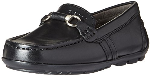 Image of Geox Boys' JR Fast 16 Moccasin, Black, 26 M EU Toddler (9 US)
