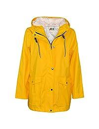 Kids Girls Boys PU Raincoat Jacket Yellow Hooded Waterproof Rainmac Cagoule 5-13