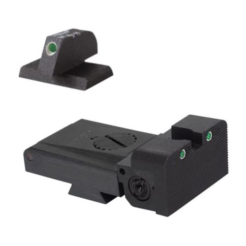 LPA TRT Kensight 1911 Sight Trijicon Tritium insert - Night Sights with Rounded Blade by Kensight Sights
